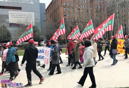 """""""为和平正义抱团""""的集会游行在费城独立广场举行_图1-16"""
