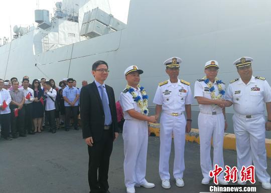 中国海军第三十批护航编队访问菲律宾