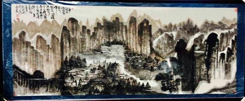 朱祖国国画又有新巨作《南山揽胜图》问世